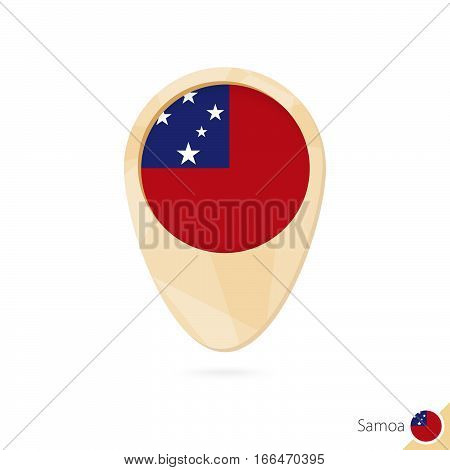 Map Pointer With Flag Of
