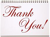 picture of thank you card  - Thank You Sign on Notepad - JPG