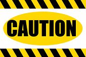 Caution Hazard Sign