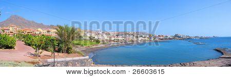 Постер, плакат: Панорамный вид на остров Коста Адехе залив Тенерифе Канарские острова , холст на подрамнике