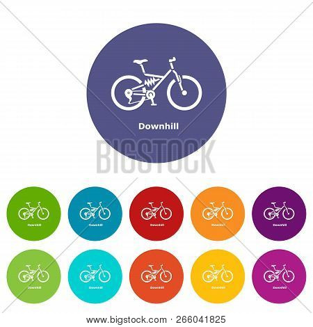 Downhill Bicycle Icon Simple Illustration