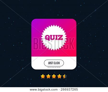 Quiz Star Sign Icon  Questions And Answers Game Symbol  Web Or Internet  Icon Design  Rating Stars  J poster
