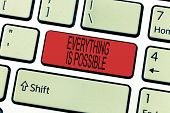 Word Writing Text Everything Is Possible. Business Concept For Any Outcome Could Occur Anything Can  poster