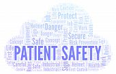 Patient Safety Word Cloud. Word Cloud Made With Text Only. poster