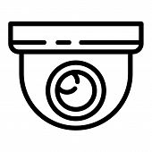 Indoor Secyrity Camera Icon. Outline Indoor Secyrity Camera Vector Icon For Web Design Isolated On W poster