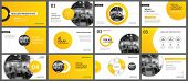 Presentation And Slide Layout Background. Design Yellow And Orange Gradient Circle Template. Use For poster