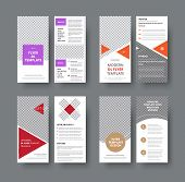 Set Of Vector Dl Flyers With Different Geometric Elements And A Place For A Photo. poster