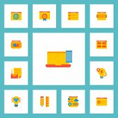Set Of Wd Icons Flat Style Symbols With Website Slider, Best Quality Website, Website Image And Othe poster
