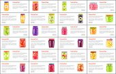 Preserved Food In Jars Web Online Banners. Organic Vegetables And Ripe Fruits Or Berries Internet Po poster