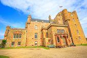 Barrogill Castle Near Thurso Of The Highland In Scotland, United Kingdom. Castle Of Mey Popular Land poster