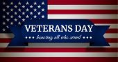 Usa Veterans Day Concept Background. Realistic Illustration Of Usa Veterans Day Concept Background F poster