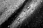Water Drops On The Fabric Texture. Wet Textile Texture. Cloth With Water Drops. poster