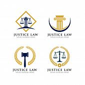 Justice Law Logo Design. Law Firm Logo Design. Attorney Logo poster
