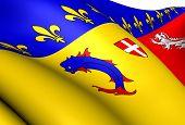 Постер, плакат: Флаг Рона Альпы Франция