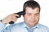 foto of gun shot wound  - Suicide concept  - JPG