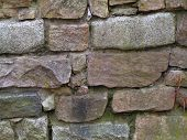 image of fieldstone-wall  - dry laid stone wall - JPG