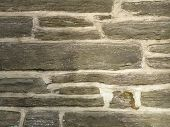 pic of fieldstone-wall  - gray stone wall of older church in philadelphia - JPG