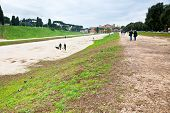 Ground Of Ancient Circus Maximus In Rome