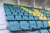 image of grandstand  - Seating for watching sports on the grandstand roof - JPG