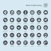 Set of business icons for media and advertising