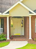foto of front-entry  - Traditional front door and entry way on residential house - JPG