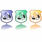 Set Of High Quality Recycling Icons Vectors