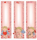 Valentine's Day Cupid With Vertical Banners