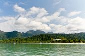 picture of langkawi  - Sea front hotel at Langkawi Island seen from the sea - JPG