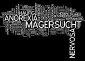 picture of anorexia  - Word cloud  - JPG