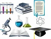 Постер, плакат: Значки науки и образования