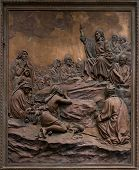 Bas-relief Of Jesus Preaching On The Mount.