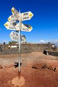 picture of amman  - Directions sign on Mount Bental on the border between Israel and Syria - JPG