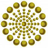 Постер, плакат: Желтый геометрический рисунок