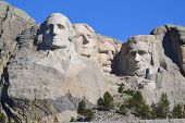 picture of mount rushmore national memorial  - Mt - JPG