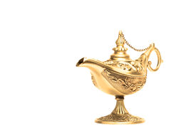 picture of aladdin  - Ornate Magic lamp of Aladdin isolated on white background - JPG