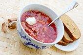 stock photo of pampushka  - ukrainian and russian red - JPG