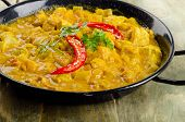 image of curry chicken  - Indian Chicken curry in a bowl - JPG