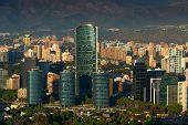 picture of titanium  - View of Santiago de Chile with Titanium La Portada skyscraper - JPG