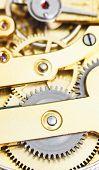 ������, ������: Background From Brass Clockwork Of Vintage Clock