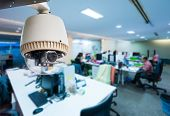 pic of cctv  - CCTV or surveillance operating in office building - JPG
