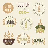 stock photo of hands-free  - Gluten free labels - JPG