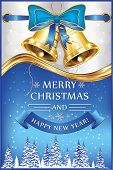 picture of blue-bell  - Merry Christmas and Happy New Year  - JPG