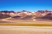 image of eduardo avaroa  - Mountain of seven colors at the national park  - JPG