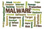 picture of malware  - Malware word cloud on white background - JPG