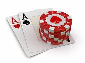 image of ace spades  - chips of casino and aces - JPG