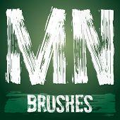 foto of letter n  - Vector set of grunge brush font available for military - JPG