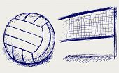 image of volleyball  - Equipment for volleyball - JPG