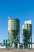stock photo of silo  - Industrial silos for the production of cement - JPG
