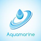 picture of aquamarine  - A drop of water the association with aquamarine - JPG