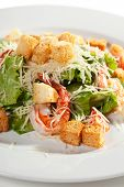 foto of caesar salad  - Caesar Salad with Seafood - JPG